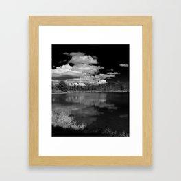 Sprague Lake under Clouds Framed Art Print