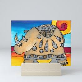 Glamorous Rhino Ethel Mini Art Print