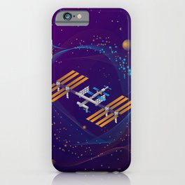Space station in outer space. iPhone Case