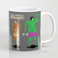 workout Mugs featuring Sweet Workout by Hoborobo