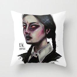 EW, MORTALS Throw Pillow