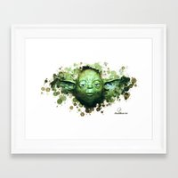 yoda Framed Art Prints featuring Yoda by Rene Alberto