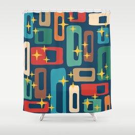Retro Mid Century Modern Abstract Pattern 221 Shower Curtain