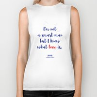 forrest gump Biker Tanks featuring Forrest Gump knows what love is by POP Collective