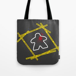 Dead Meeple Crime Scene Tote Bag