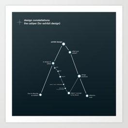 design constellation: the caliper Art Print