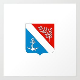 flag of Porsgrunn Art Print
