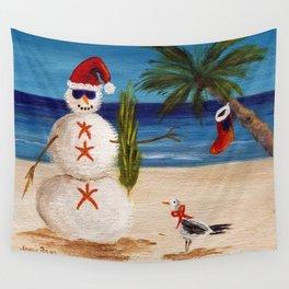 Christmas Sandman Wall Tapestry