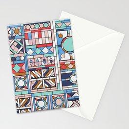 Pop art windows Stationery Cards