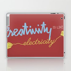 creativity is like electricity Laptop & iPad Skin