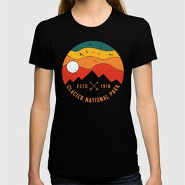 Glacier National Park Retro Montana Mountain Souvenir Vintage 80s T-shirt