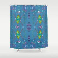 hippie Shower Curtains featuring Hippie Time by Terrell-ESS