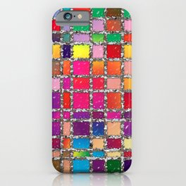 Stained Glass Window Multicolour Pattern iPhone Case
