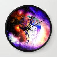iris Wall Clocks featuring Iris  by haroulita