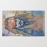jack sparrow Area & Throw Rugs featuring Jack Sparrow by Nicola Girello