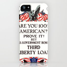 Are you 100% American iPhone Case