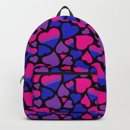 Bi Pride Hearts Backpack