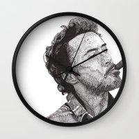 robert farkas Wall Clocks featuring Robert by Rik Reimert