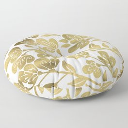 Cherry Blossoms – Gold Palette Floor Pillow