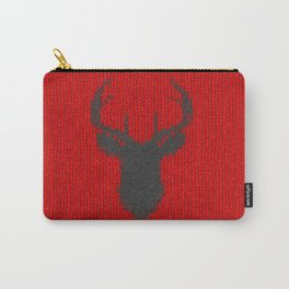 Antiallergenic Hand Knitted Deer Winter Wool Texture - Mix&Match with Simplicty of life Carry-All Pouch