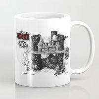 ewok Mugs featuring Ewok Village by foreverwars