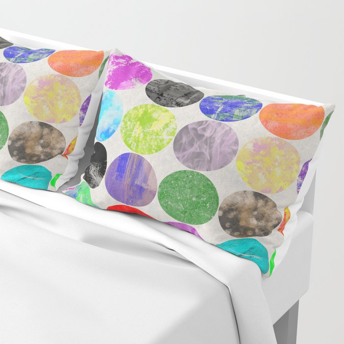 36 Textures - Multi Coloured, Multi Patterned, Multi textured Canvas Painting Pillow Sham