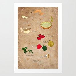 puff pastry pizza recipe Art Print