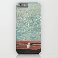 White Cat In A Snowstorm iPhone 6s Slim Case