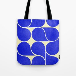 Blue mid-century shapes no8 Tote Bag