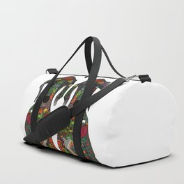 Great Dane love white Duffle Bag