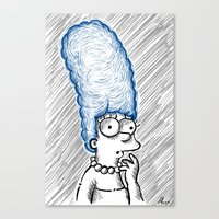 simpson Canvas Prints featuring Marge Simpson by Axpirine
