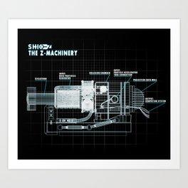 The Z-Machinery - Technical Blueprint Art Print