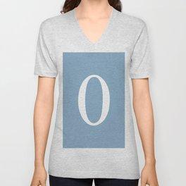 zero sign on placid blue background Unisex V-Neck