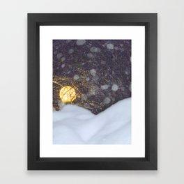 Moon On Snow Framed Art Print