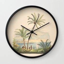 Tree diplothemium maritimum L  cocos nucifera L  attalea compta L 9 Wall Clock