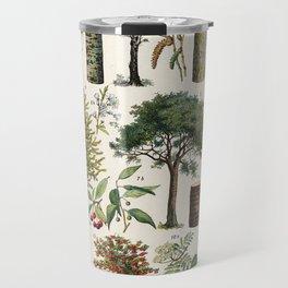 Adolphe Millot - Arbres B - French vintage botanical poster Travel Mug
