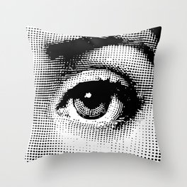 Lina Cavalieri - left eye Throw Pillow
