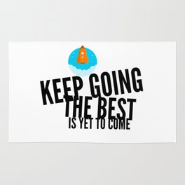 Best Entrepreneur Quotes - Keep Going Rug