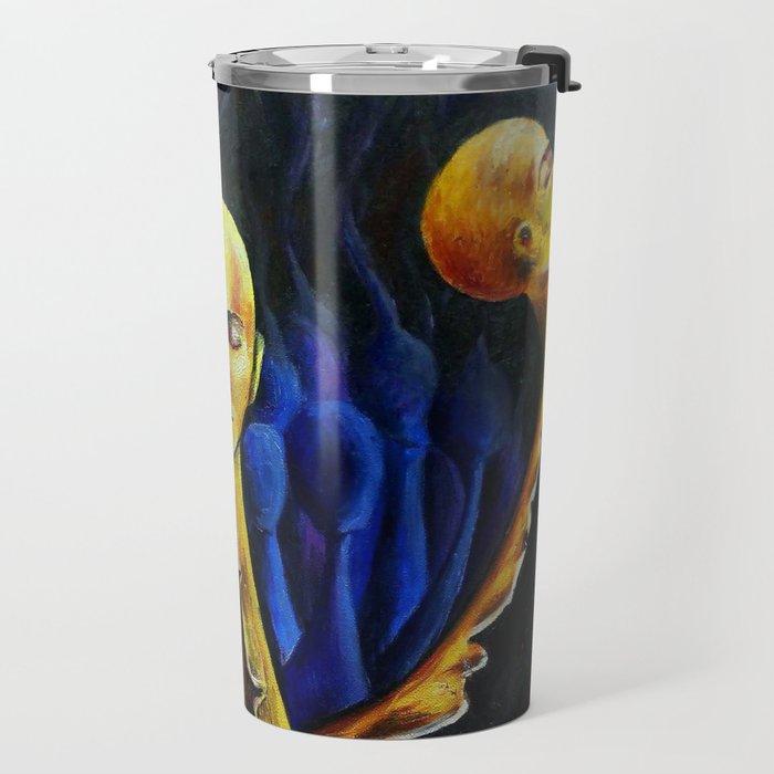 Oil painting Dark nightmare Splitting Travel Mug