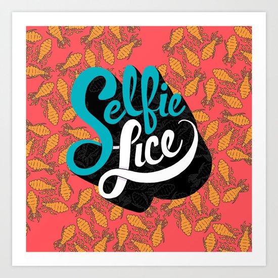 Selfie Lice Art Print