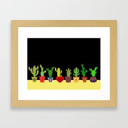 Cactus in black Framed Art Print