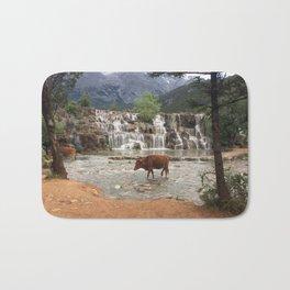 Cows in the River Bath Mat