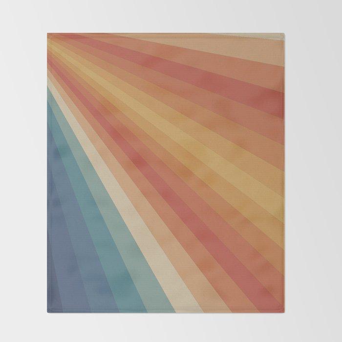 Retro 70s Sunrays Throw Blanket