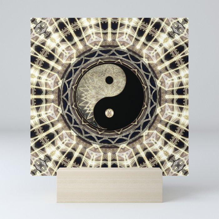 Yin Yang Geometry Mandala V1 Mini Art Print