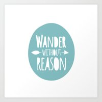 wander Art Prints featuring Wander by Zen and Chic