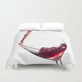 Elegant Red Wine Photo Duvet Cover