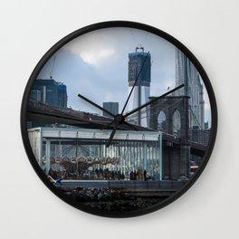 Freedom Tower & Jane's Carousel 2012 Wall Clock