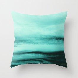 Mint-Green Ocean Vibes #1 #decor #art #society6 Throw Pillow
