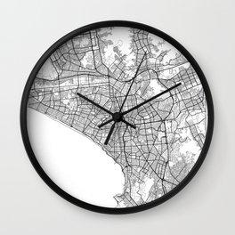 Lima Map White Wall Clock