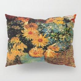 Van Gogh, vase– Van Gogh,Vincent Van Gogh,impressionist,post-impressionism,brushwork,painting Pillow Sham